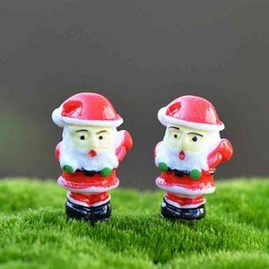 Ornamento Paisagem de Natal Cartoon Doll Papai Noel Miniatura Fairy Garden Gnome acessórios Moss Terrariums Dollhouse DIY Craft