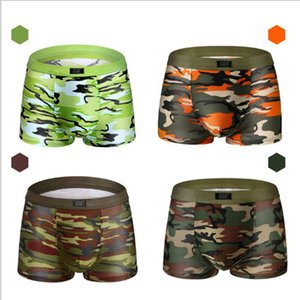 Male Underwear Men Boxer Shorts Fashion Breathable Modal U Convex Crotch Boxers Homme Sexy Tide Camouflage Printed Cueca