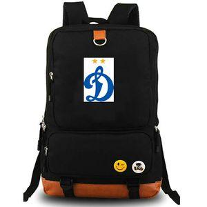 Dinamo Rucksack FK Dynamo Moskau Daypack Fußballverein Schultasche Fußballteam Rucksack Canvas Schultasche Outdoor Tagesrucksack