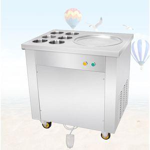 BEIJAMEI New Commercial Thailand Piatto Pan Fried Ice Cream Roll Machine Fried Yogurt Rolls Machine