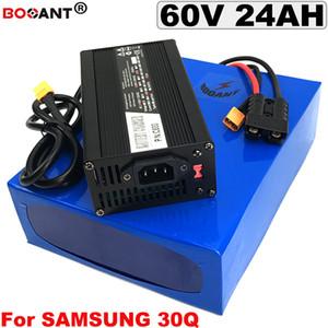 16S 60V Lithium-Akku 60V 24AH E-Bike-Akku für Bafang BBSHD 1000W 2000W 3000W Motor Elektro-Fahrrad-Batterie 60V