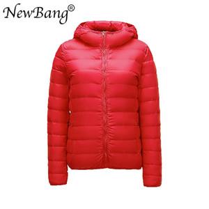 NewBang 브랜드 6XL 7XL 8XL 대형 여성 다운 재킷 울트라 라이트 자켓 여성 겨울 Windproof 깃털 코트