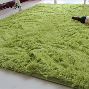 Zeegle Shaggy Floor Carpet For Living Room Child Bedroom Area Rugs Solid Color Mat Rug Non-slip Doormat Modern Floor Decor