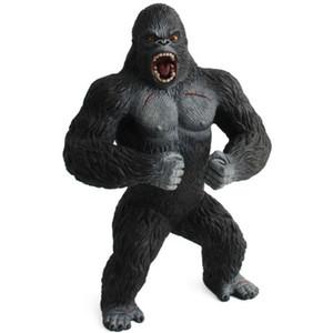 19cm Figuras de Acción Animal Island Chimpancé King Kong cráneo del gorila PVC figura de acción de muñeca Modelo Juguetes para los muchachos regalo