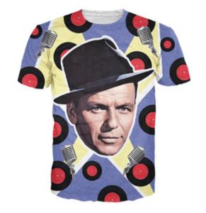 Neue Ankunft Männer / Frauen Frank Sinatra 3D Gedruckt T-shirt Summe Stil Mode Hohe Qualität Casual T-shirt S-XXXXXXXL U688