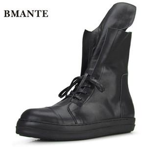 Echtleder Art und Weise beiläufige Schuhe schwarz männlich hightop Tennis hoch Bambas Bieber Hohe Stiefel Trainer Schuh krasovki für Männer