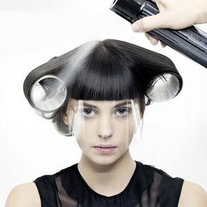 50pcs Salon de coiffure HairSpray Masques Masque Couper Couleur Visage Visage Protégez les fournitures de coiffure jetables Visage en plastique transparent LKNNB