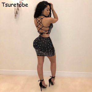Tsuretobe Fora Do Ombro Sexy Two Piece Set Mulheres Spaghetti Strap Tops E Saias Da Moda Elegante Beading Partido Two Piece Outfits