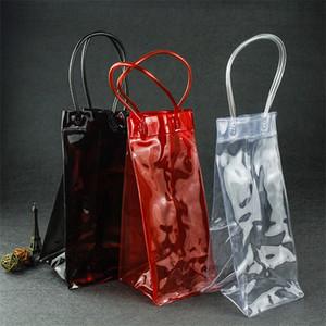 Resistente PVC trasparente Champagne Wine Ice Bag Pratico bere dispositivo di raffreddamento Carry Borsa per Bar Club Uso birra reticolo Eco Friendly 3 2yy ZZ