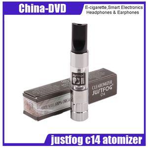 Original Justfog C14 Clearomizer 1.8ml Capacidad de e-líquido eGo / 510 Cuerpo Puro sabor sin golpes secos Materiales DHL Envío gratis