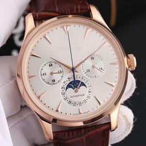 2018 montres automatiques pour hommes montres en acier inoxydable mode creuse tourbillon en cuir bracelet en cuir montres-bracelets mécaniques