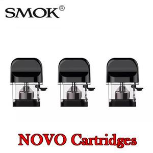 Authentic SMOK Novo Kit Cartouches de Vapeur Remplacement rechargeable de 2 ml - 1.2ohm vide - 1.5ohm Nic Cartouche de recharge en sel pour gousses de Novo Pod Kit