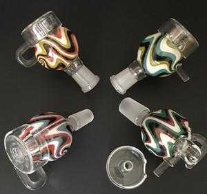 새로운 다채로운 100 % 석영 스윙 네일 유리 양동이 유리 물 금연 파이프에 대한 수화물 캡 남성 또는 여성