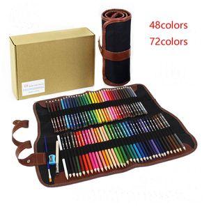 Pencil Pencil cas non toxique et crayons de couleur soluble dans l'eau Set Art Peinture Graffiti Kid Stationery 48/72 couleurs disponibles