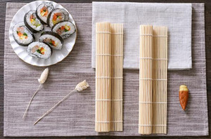 Sushi rolamento Ferramenta de bambu material Mat Sushi Criador DIY Cozinha Criativa Grade Bamboo Sushi Mat 24 * 24 centímetros