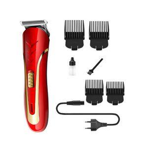 KEMEI KM-1409 Tondeuse À Cheveux Électrique Rasoir Hommes En Acier Au Carbone Tête Rasoir Tondeuse Rechargeable Trimer Électrique Barbe avec boîte