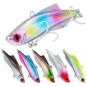 3D Lebensechte ABS Kunststoff VIB crankbaits 7,5 cm 20,5g 6 farben Realistische Fisch Körper Fliegenfischen 6 # BKB köder Haken Köder