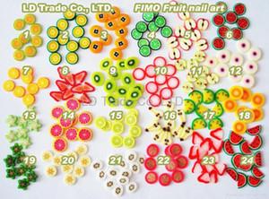 fimo fette, 1000 pezzi ,, mix frutta fimo fette, nail art Polymer Clay DIY Slice Decorazione Nail Sticker
