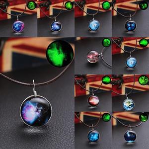 2017 Nova Moon Star Aurora Collana di cristallo Collana modello Accessori creativi Collana in vetro luminoso pendente gioielli per natale