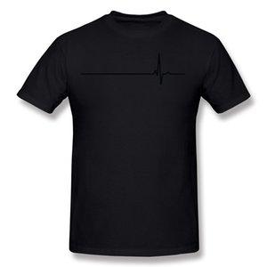 T-Shirt Manica in cotone True 100 Cotton True Heartbeat Man O Neck T-Shirt a maniche corte gialla T-Shirt T-shirt da uomo di grandi dimensioni