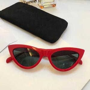 Lujo 40019 Gafas de sol para mujeres Diseñador de moda popular Goggle Designer protección UV Marco de ojo de gato de calidad superior Ven con el paquete