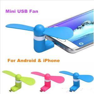 Nouveau Mini Cool Micro USB Ventilateur Mobile Téléphone USB Gadget Refroidisseur Fan Testeur Téléphone portable Pour type c Samsung s9 s8 plus DHL