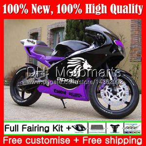 أسود بنفسجي لـ Aprilia RS4 RS125 99 00 01 02 03 04 05 RS-125 4MT13 RSV125 R RS 125 1999 2000 2001 2002 2003 2005 Fairing Bodywork
