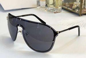Gafas de sol sin montura Pilot 2180 Plata Negro / Gris Lens moda las gafas de sol de gran tamaño unisex sombrea nuevo con la caja