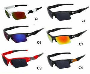5pcs / lot Nuevas gafas de sol clásicas de la entrega libre Nuevos hombres de las mujeres gafas de sol de la manera 9009 del deporte Muchos colorean disponible.