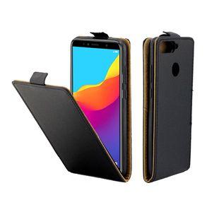 Estuche de cuero de negocios para Coque Huawei Honor 7A Fundas con ranura para tarjeta con tapa vertical para Huawei Enjoy 8E Bolsas para teléfonos móviles