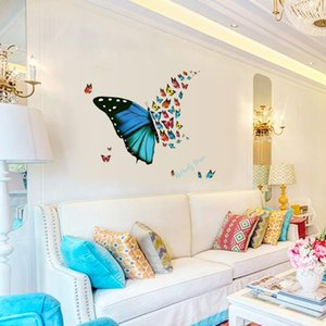 Ziemlich Schmetterling Traum Wandaufkleber Simulation Insekten Fenster Aufkleber Wohnzimmer Veranda Display Wandbild Poster Wohnkultur 1 5 stück ii