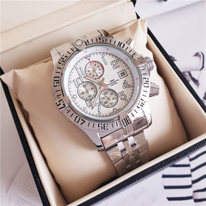 새로운 패션 럭셔리 시계 44.5mm 오션 레이서 A1338012 블랙 다이얼 VK 쿼츠 크로노 그래프 작동 스테인레스 스틸 남자의 손목 시계
