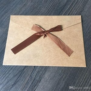 Style rétro enveloppe pure couleur blanc carte d'invitation cadeau ruban ruban emballage enveloppes originalité cartes d'anniversaire 0 65yf ii