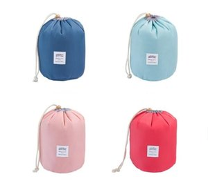Elegant Barrel Shaped Makeup Organizer Cosmetic Bags Travel Dresser Pouch Cosmetic Makeup Storage Bag For Women