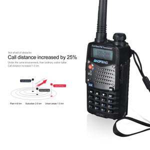 Baofeng Transceptor de mano portátil Receptor de radio Walkie-talkie Interphone Dual-Band Pantalla de doble frecuencia Walkie Talkie Enchufe de la UE