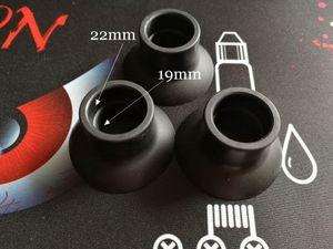 Soporte de silicona Ventosa Soporte de goma Base de goma Vape Pluma Exhibición de la batería Big Black Sucker Para 19 mm a 22 mm Tanque Mech Mod E cigs