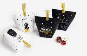 Простой высокого класса горячего тиснения подарочная коробка праздничный выпечки небольшой подарочная коробка ленты печать коробки