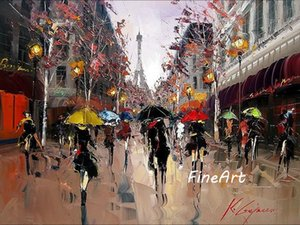handmade oil canvas impression paris street scenery oil painting wall art canvas living room home décor decorative painting