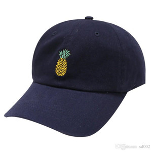 Stampato Snapback Morbido motivo ad ananas Cappuccio con visiera Anatra Tongue Protezione solare Cappelli estivi elastici Vendita calda 4 5dl BB