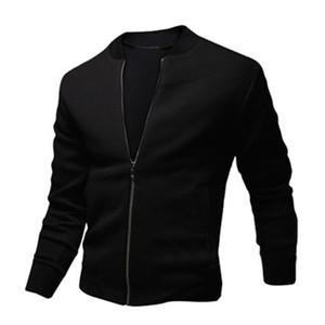 2017 New Bomber Jacket Men Fashion Design Mens Slim Zipper Baseball Jacket Casual  Stylish Varsity Veste Homme
