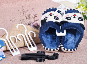 Commercio all'ingrosso 100 pezzi di plastica Innocent Slippers Hanger, flip flop sandali fannulloni appesi, multifunzionale flip-flop scarpiera