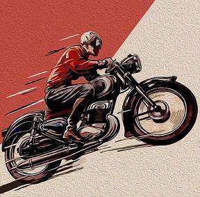 Güzel vintage Motor bike cafe racer sanat, Yüksek Kaliteli Handpainted HD Baskı Modern Soyut Pop Art Yağlıboya Tuval Üzerine Çok e ...