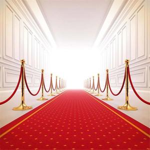 Red Carpet Wedding Backdrop Fotografía Bright Front Door Interior Photographic Background Imagen Disparos Props Booth Wallpaper Vinyl Cloth