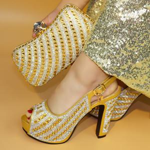 17041703 последний дизайн итальянская обувь и сумки набор, чтобы соответствовать высокое качество мода стиль Женская обувь!