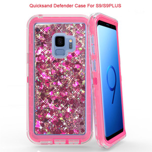 Para Samsung S9 S9Plus Note8 Quicksand Defender carcasa resistente para iPhoneX 8 7 6s Plus Fashion Glitter Bling Quicksand Crystal carcasa brillante para robot
