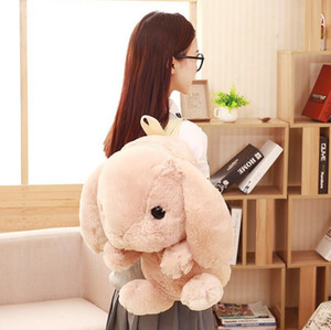 러블리 스쿨 배낭 카와이이 토끼 봉제 가방 일본 로리타 버니 부드러운 장난감 걸스 생일 봉제 가방