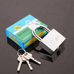 Stainless Steel padlock Waterproof Antirust, Multifunctional Padlocks,anti-theft Lock Pry Door Lock Unlocked Head with 3 keys