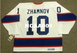Uomo # 10 ALEX ZHAMNOV Winnipeg Jets 1993 CCM Vintage Retro Home Away Home Hockey Jersey o personalizzato qualsiasi nome o numero Retro Jersey