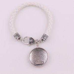 Piel angelical arcángel Miguel Talisman Amuleto de Viking religiones trigo mujer Pulsera de hombre brazalete