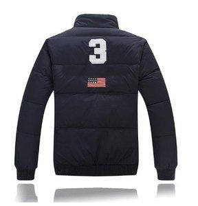Nueva ropa de invierno, bandera de Estados Unidos, pluma británica, plumón, engrosamiento de los hombres, corto código comercial grande abrigo europeo M-2L